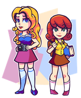 Stardew Valley - Haley and Penny by Undead-Niklos