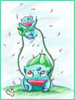 Daddy and baby Bulbasaur :3 by Ariall