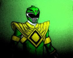 Green Mighty Morphin' Power Ranger by spriteman1000
