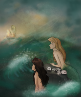 Mermaids of the Caribbean by justpottering