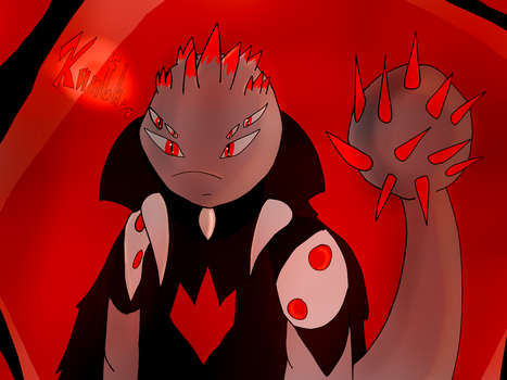 Kunthra the Red Death(New TMNT/HTTYD OC)(new info) by Foziz105