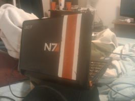 Mass Effect N7 - Laptop Paint by rmhaskell