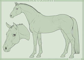 Ravakins - Mare lineart by Ravica