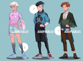 [OPEN 1/3] Adoptables 1 by raedasama