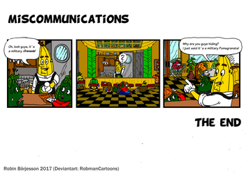 The Yellow Banana Comic: Miscommunications (2017) by RobmanCartoons