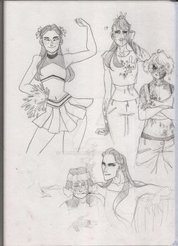 Besties sketches by Bonnino
