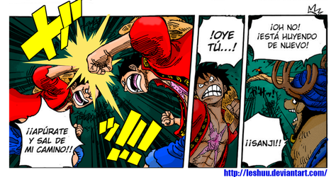One Piece 831 Color Test - Luffy vs Luffy by LESHUU