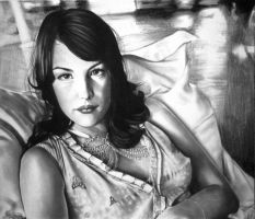 Liv in Charcoal and Conte (2006) by riansart