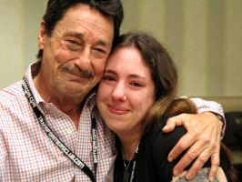 Me and Peter Cullen by ElitaOneArts