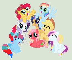 MLP Friendship Is Happiness And with To Good Frien by GalaxySwirlsYT