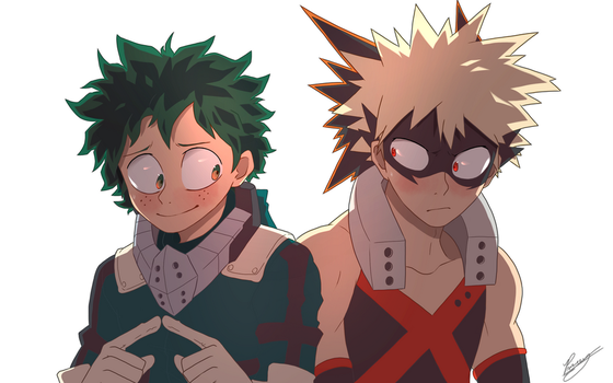 Bakugo and Deku by LuckyCessy