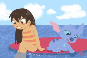 Lilo and Stitch by Vogelchan