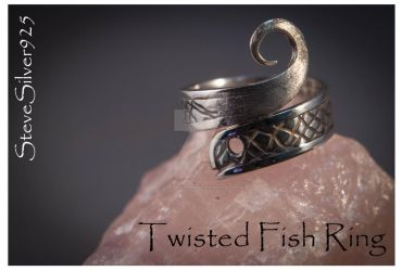 Twisted Fish Ring by SteveSilver925