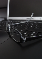 glasses and laptop by Gandalfx
