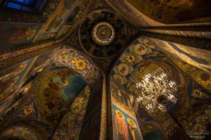 Church of the Savior on Blood - interior 2 by LunaFeles