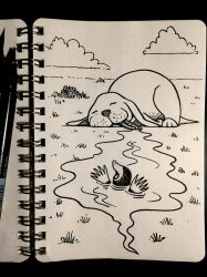 Inktober 6: Drooling by Size-And-Stupidity