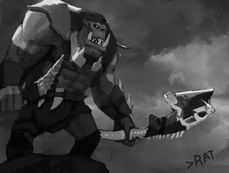 Feral Ork Warboss by SergIole