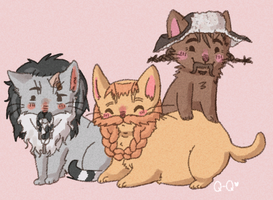 BiFUR, BoFUR, and BomPURR by Queso-Queen