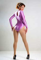 Hot woman in pink leotard and pantyhose 3 by JLAvenger2