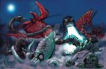 Great Kaiju Duel in the Sea