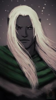 Speedpaint - Drizzt Do'Urden by GrimweaverArt