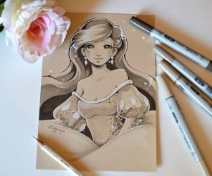 Sepia Ariel by Lighane