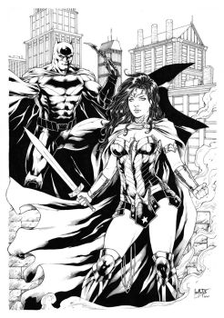 Batman and Wonder Woman by Leomatos2014