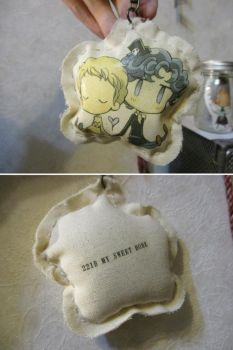 SHERLOCK and JOHN key chain by daichikawacemi