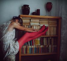 Red and books by jackieslife