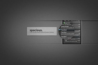 spacious.HD A Notification Center theme by KillingTheEngine