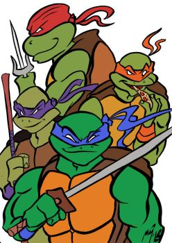 Teenage mutant ninja Turtles by Granamir30