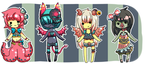 Monster Girls Challenge {Set 3}{CLOSED} by Eeyrie