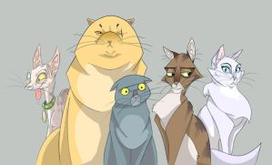 cats by Adlynh