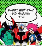 Happy Birthday Uncle Go! RECOLOR by dabritian