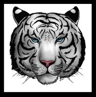 White Tiger Tattoo-Color by Hellsong-Diabla