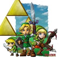 SD Links and Linkle by ninjatron