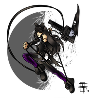 Mysterious Black Ninja by 21as