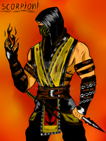 Scorpion Art (Color version) by MarynaZX