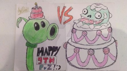 PvZ 9th Anniversary (art only) by GoldFlash101