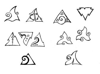 Triangle Tattoo - Sketch 02 by MaryQueenWolf