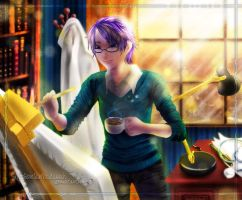 Morning Art (and Coffee) by SlytherclawPadawan