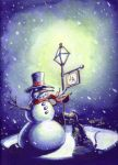 Winter Card by TheGeekCanPaint