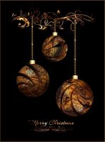 Wooden Christmas Baubles by marijeberting