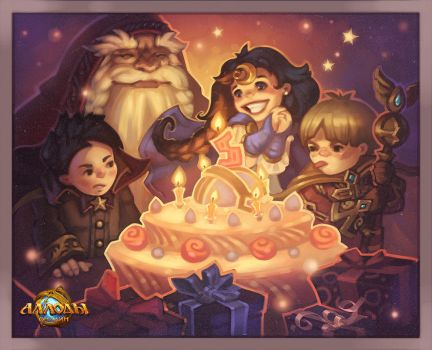 Allods Online BDay card by Grey-Seagull