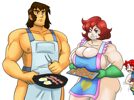 Naked Aprons - Cookies And Bacon by ProjectHazoid