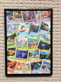 Pokemon cards framed by SkittleLittle