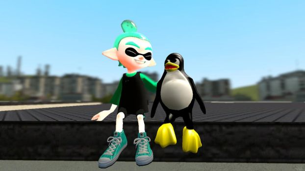 GMOD - Avion hangs out with Tux by thebestmlTBM