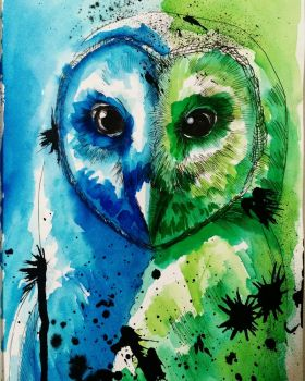 #68 Barn Owl by ComposedLines