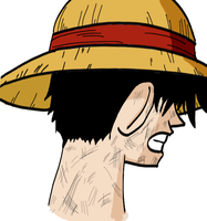 Luffy Art - One Piece COLOR by Linkhare