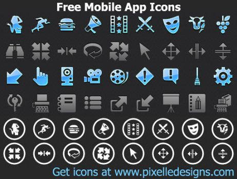 Free iPhone Icons by Iconoman